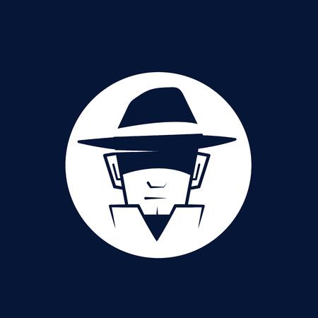 Secret agent logo with hat