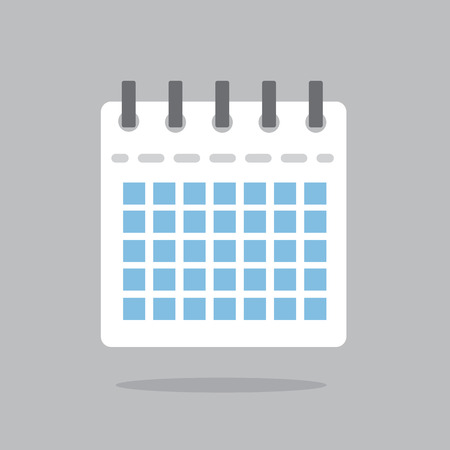 Calendar icon floating with shadow Illustration