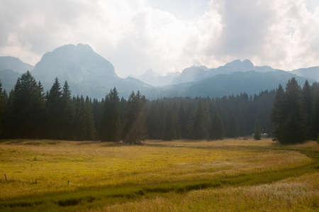 Mountains in Durmitor national park on summer, Montenegro.
