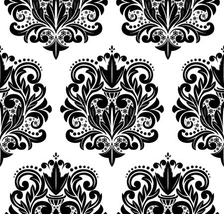 seamless damask: Vector hermoso patr�n de damasco sin fisuras.