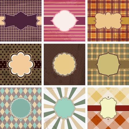 Vector set of vintage backgrounds with place for text. Vector
