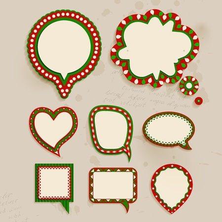 Christmas vintage bubbles for speech. Illustration