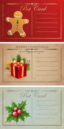 Vintage christmas postcards.