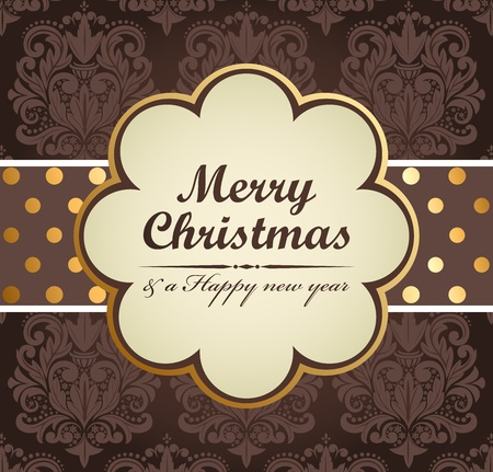 Christmas vintage background. Vector