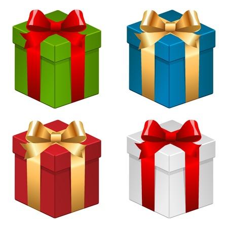 Noël coffrets cadeaux. Vecteurs