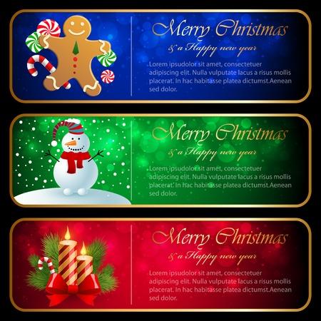 Christmas horizontal banners.