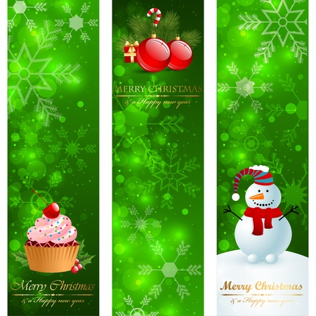 Christmas vertical banners. Vector