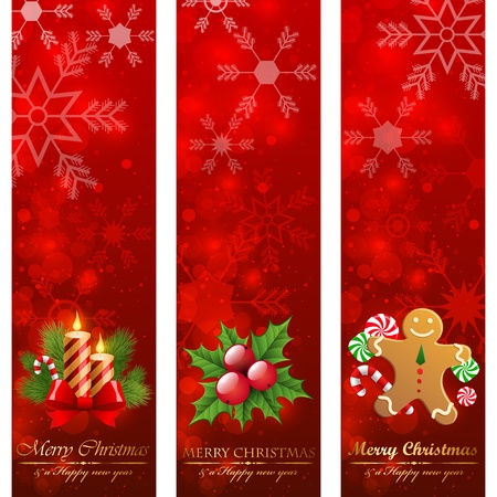 Christmas vertical banners.