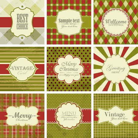 menu vintage: set of christmas vintage backgrounds.