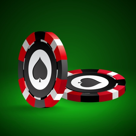 Poker chips illustration. Vector