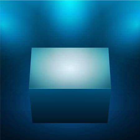 3d isolated empty blue podium illustration. Vector