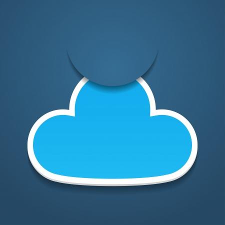 adjuntar: Resumen adjuntar un documento nube ilustraci�n de la etiqueta Vectores