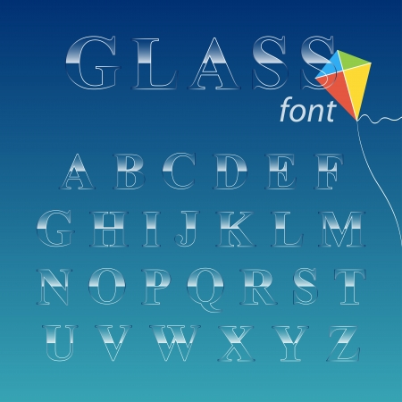 Glass font illustration  Illustration