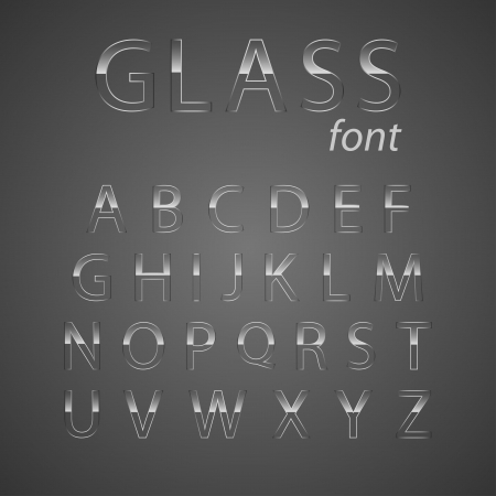 glass alphabet