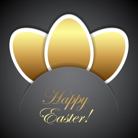 golden eggs: Easter golden eggs illustration