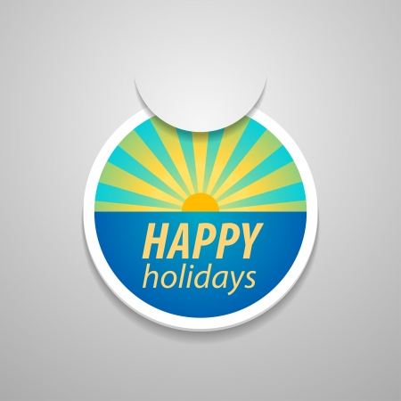 adjuntar: Pegue la etiqueta adhesiva felices fiestas