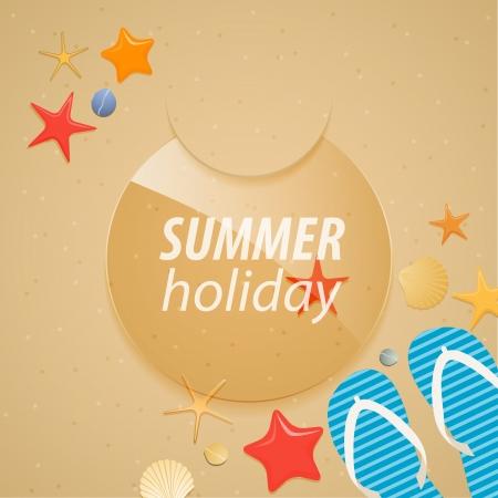 Summer holidays sticker illustration  Vector