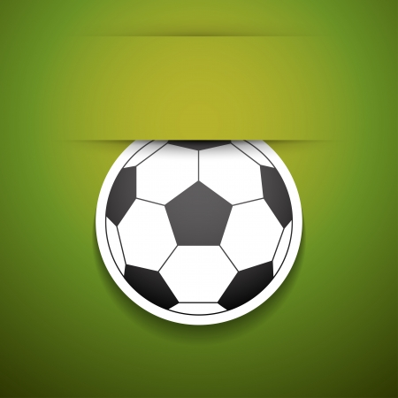 foot ball: Vector football sticker with place for text.