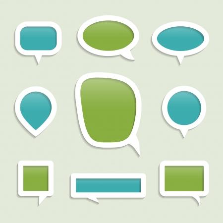 Set of bubbles for speech. Vector illustration. Vector
