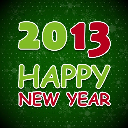New 2013 year greeting card. Vector illustration. Vector