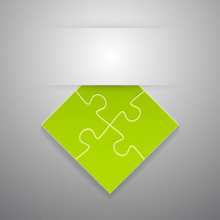 adjuntar: Conecte rompecabezas sticker. Vector ilustraci�n.