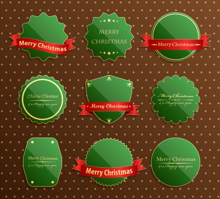Set of christmas luxury labels Vector