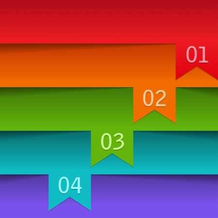 Abstract number line  Vector illustration  Illustration