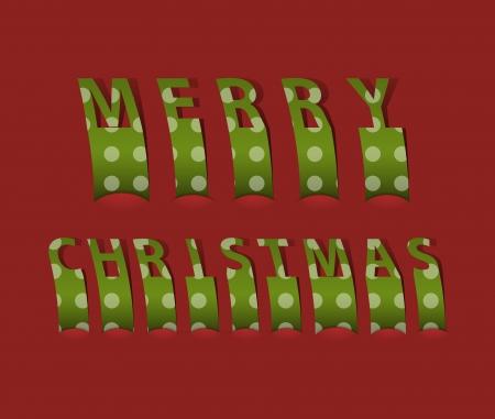 origami snake: Merry christmas card  Vector illustration