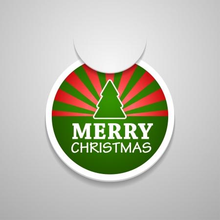 attach?: C�rculo adjuntar merry christmas etiqueta