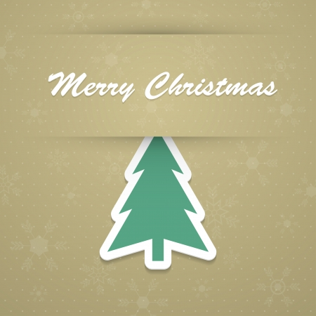 Merry christmas background with fir tree Stock Vector - 16692203