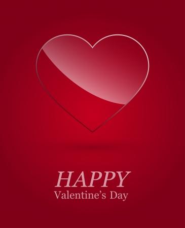 Valentine's day luxury glass heart . Stock Vector - 17227161