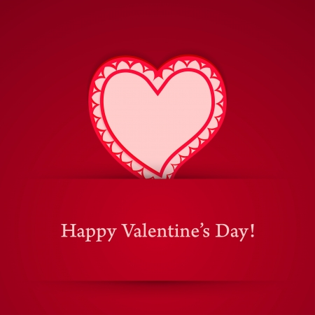 Valentine's day heart sticker.  Stock Vector - 17227174