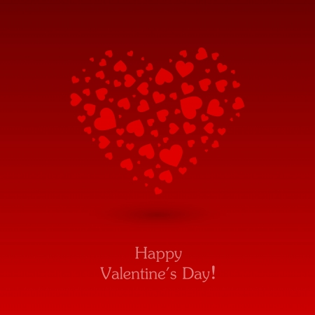 Valentines day card with heart. Vector illustration. Stock Vector - 17793068