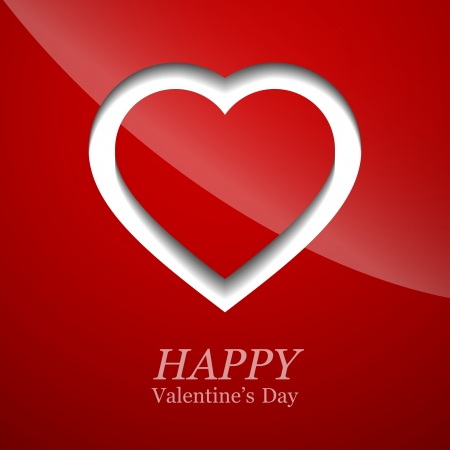 Valentines day card with heart. Vector illustration. Stock Vector - 17793072