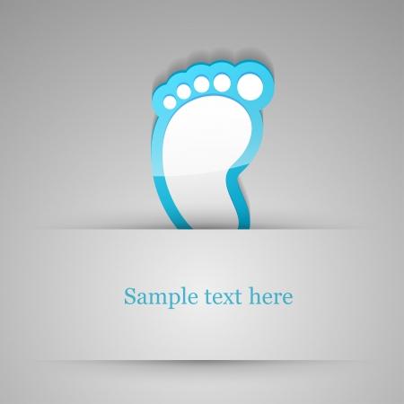 barefoot walking: Footprint sticker. Vector illustration. Illustration