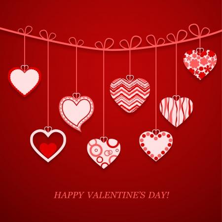 Valentine's day postcard. Vector illustration. Stock Vector - 17793078