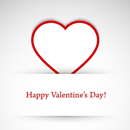 Valentines day card with heart. Vector illustration. Stock Vector - 17793069