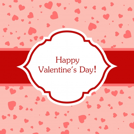 february 14th: Valentines day greeting card. Vector illustration.