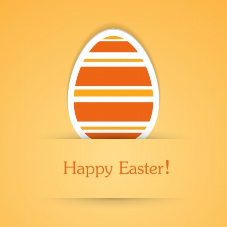attach: Happy easter attach sticker. Vector illustration. Illustration