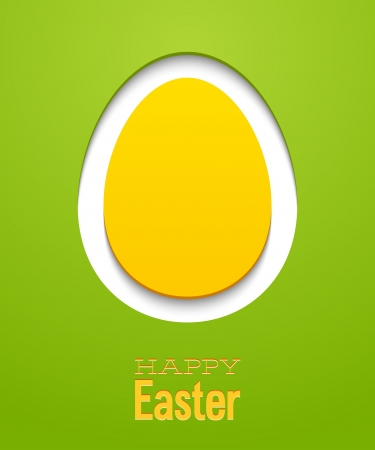 chicken and egg: Easter card with egg. Vector illustration.