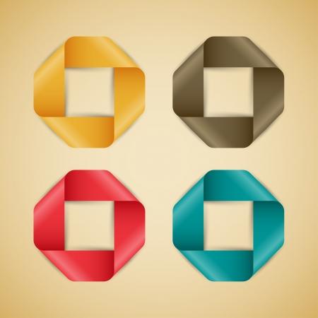 Abstract vector realistic silks. Illustration