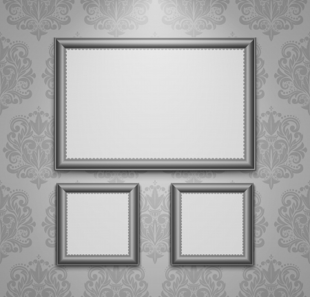 Empty frames on the wall  Vector illustration  Vector