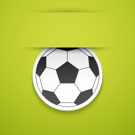 Football sticker illustration. Vector