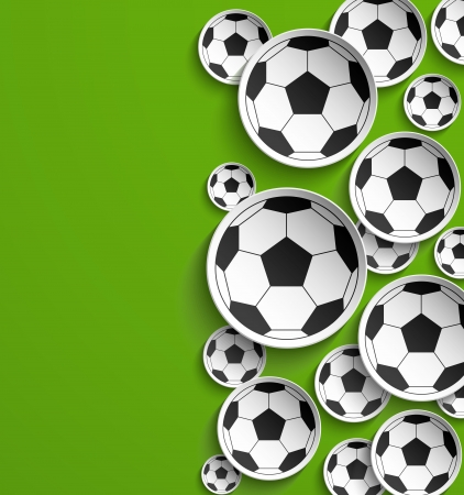 Football abstract background. Vector illustration. Иллюстрация
