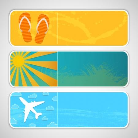 horizontal banner: Summer banners.