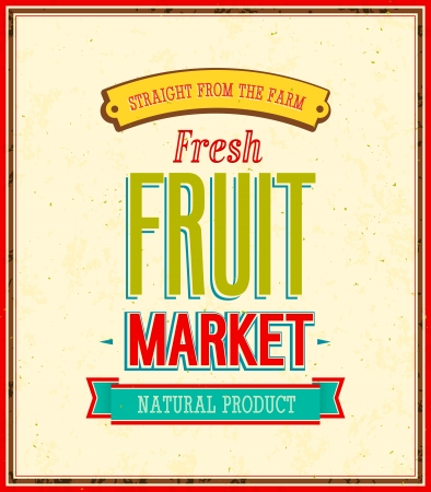Fruit market design illustration  Иллюстрация