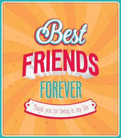 Best friends forever typographic design. Vector illustration. Vector