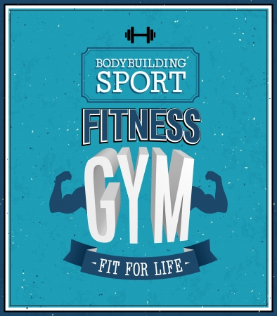 physical fitness: Fitness gym design.  Illustration