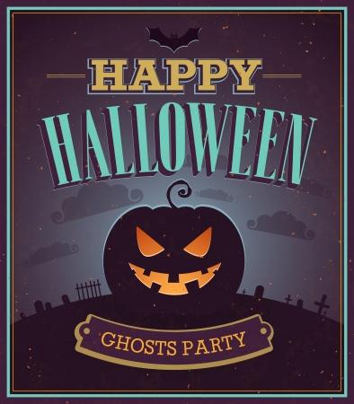 Happy Halloween typographic design. illustration.