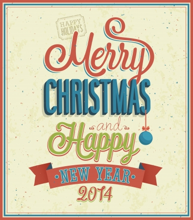 Merry Christmas typographic design. Vector illustration.